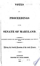 Votes And Proceedings Of The Senate Of The State Of Maryland