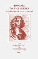Pdf Spinoza to the Letter