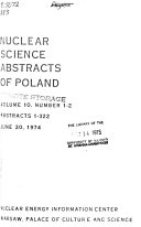 Nuclear Science Abstracts of Poland