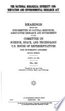 The National Biological Diversity Conservation and Environmental Research Act