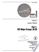 1977 Census of Manufactures: Industry statistics. pt. 1. SIC major groups 20-26. pt.3. SIC Major Groups 35-39