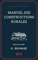 Manuel des constructions rurales Pdf/ePub eBook