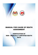 MYCDCGP - Manual for Cause of Death Assignment