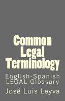 Common Legal Terminology