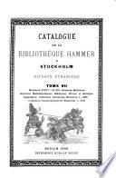 Catalogue de la Bibliothèque Hammer à Stockholm