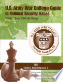 U S  Army War College Guide to National Security Issues  Theory of war and strategy Book PDF