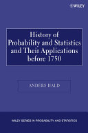 A History of Probability and Statistics and Their Applications before 1750 Pdf/ePub eBook