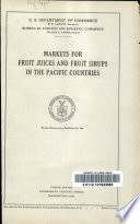 Markets for Fruit Juices and Fruit Sirups in the Pacific Countries