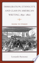 Immigration, ethnicity, and class in American writing, 1830-1860 : reading the stranger