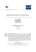 Demographic Uncertainty and Fiscal Policy