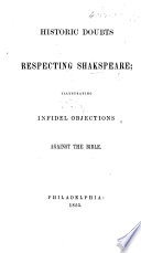 Historic Doubts Respecting Shakspeare Book
