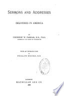 Sermons and Addresses Delivered in America
