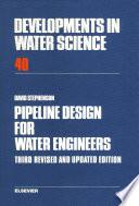 Pipeline Design for Water Engineers