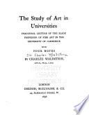 The Study of Art in Universities