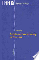 Academic Vocabulary in Context