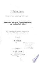 Bibliotheca familiarum nobilium
