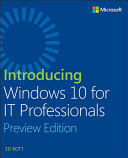 Introducing Windows 10 for IT Professionals, Preview Edition Pdf/ePub eBook