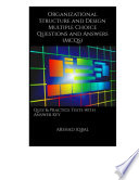 Organizational Structure And Design Multiple Choice Questions And Answers Mcqs  Book PDF