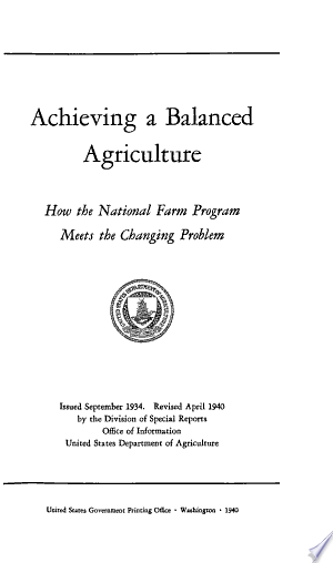 Download Achieving a Balanced Agriculture PDF
