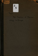 The Practice of Pharmacology in Europe Book