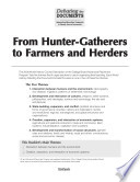 From Hunter Gatherers To Farmers And Herders