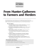 From Hunter-Gatherers to Farmers and Herders
