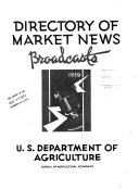Directory of Market News Broadcasts  1939