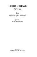 Lord Crewe, 1858: 1945
