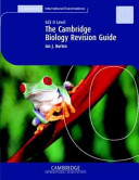 The Cambridge Revision Guide: GCE O Level Biology Book Cover