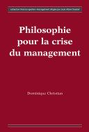 Pdf Philosophie pour la crise du management Telecharger
