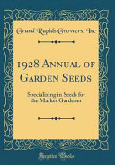 1928 Annual of Garden Seeds Book