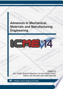 Advances In Mechanical Materials And Manufacturing Engineering Book PDF