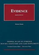 Federal Rules of Evidence: Statutory and Case Supplement