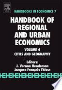 Handbook of Regional and Urban Economics Book
