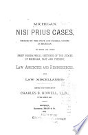 Michigan Nisi Prius Cases Decided By The State And Federal Courts In Michigan