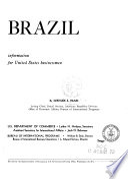 Brazil  Information for United States Businessmen