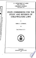 State Commissions for the Study and Revision of Child welfare Laws