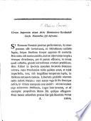 Utrum imperium atque artes humaniores occidentali cursu nationibus sese deferant. [An essay, by T. J. Mathias.]