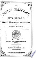 The Boston Directory Book PDF