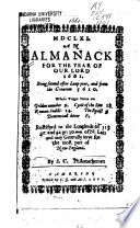 An Almanack For The Year Of Our Lord 1661