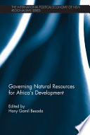 Governing Natural Resources for Africa   s Development Book