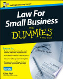 """""""Law for Small Business For Dummies UK"""" by Clive Rich"""