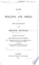 List of Mollusca and Shells in the Collection of the British Museum