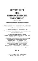 Zeitschrift f  r philosophische Forschung