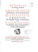 Memorias da Ordem Militar de S. Joao de Malta ...