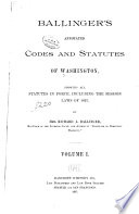 Ballinger s Annotated Codes and Statutes of Washington