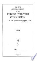 Annual Report of the Public Utilities Commission of the District of Columbia