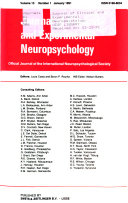 Jounral of clinical and experimental neuropsychology Book