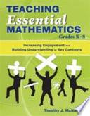Teaching Essential Mathematics Grades K 8