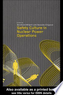 Safety Culture In Nuclear Power Operations Book PDF